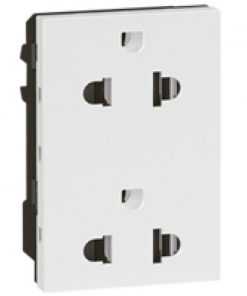 Double Euro-US type socket