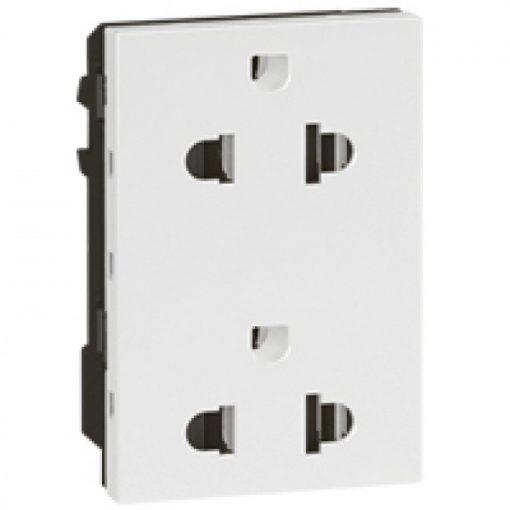 Double Euro-US type socket