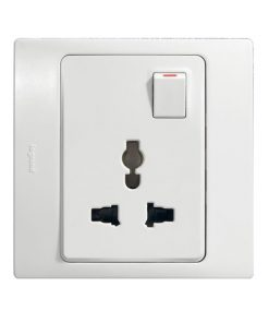 Mallia Multistandard switched 1 gang socket